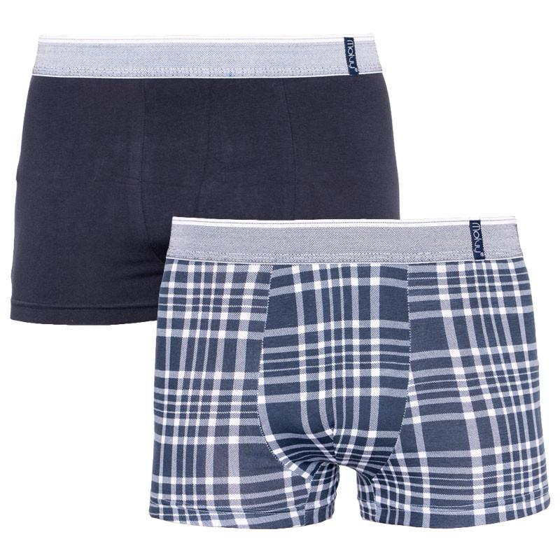 2PACK Pánské boxerky Molvy vícebarevné (KP-067-BEU) L
