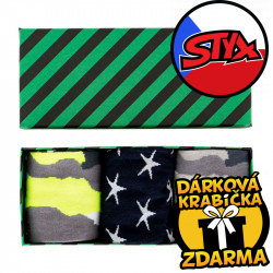 3PACK ponožky Styx crazy v dárkovém balení (H3283031)