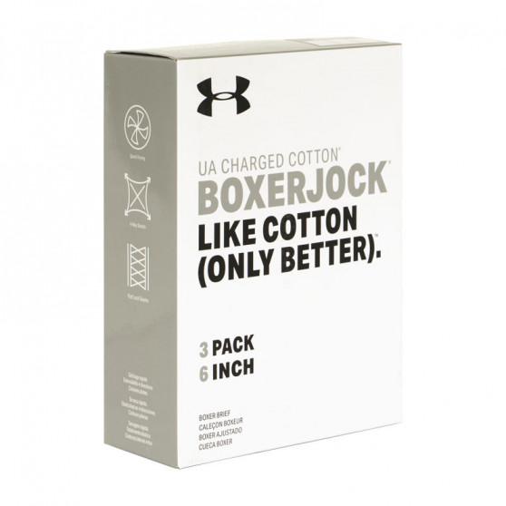3PACK pánské boxerky Under Armour bílé (1327426 100)