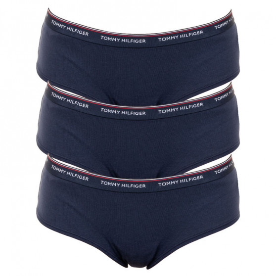 3PACK dámské kalhotky Tommy Hilfiger tmavě modré (UW0UW00010 416)