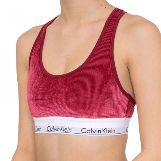 Dámská podprsenka Calvin Klein vínová (QF5509E-2XV)