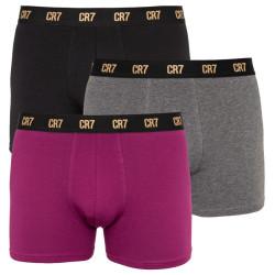 3PACK pánské boxerky CR7 vícebarevné (8100-49-2720)