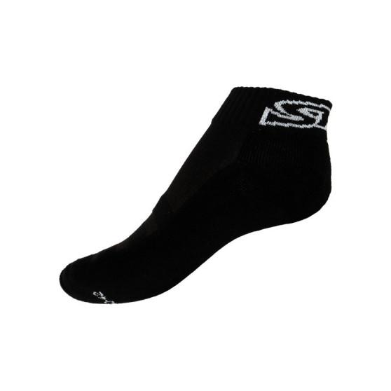 Ponožky Styx fit černé s bílým nápisem (H272)