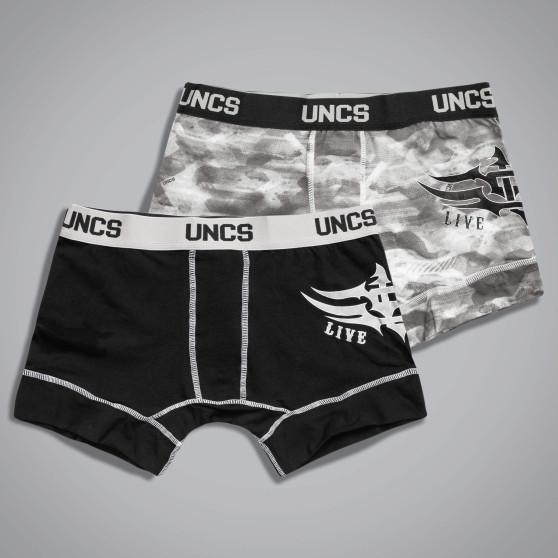 2PACK pánské boxerky UNCS Wings II nadrozměr