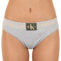 Dámská tanga Calvin Klein šedá (QF4920E-GCD)
