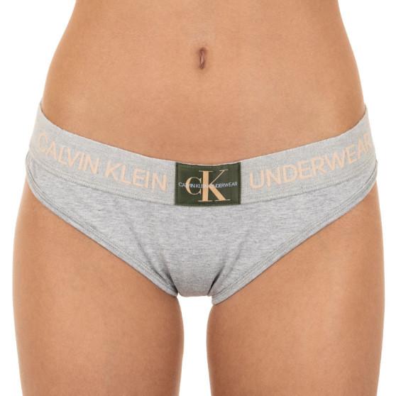 Dámské kalhotky Calvin Klein šedé (QF4921E-GCD)