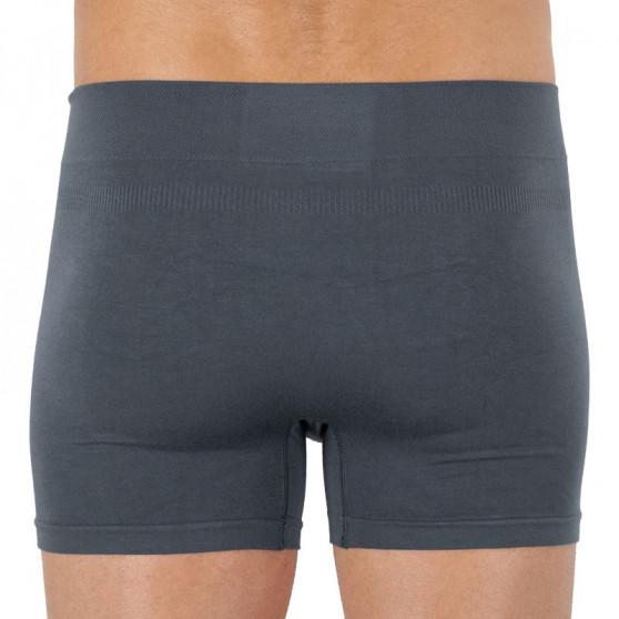 Pánské boxerky Gino bambusové bezešvé šedé (54006)