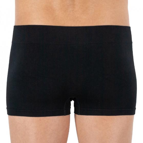 Pánské boxerky Gino bezešvé bambusové černé (53006)