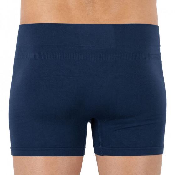 Pánské boxerky Gino bambusové bezešvé modré (54006)