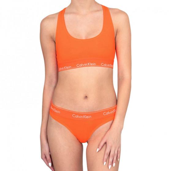 Dámská podprsenka Calvin Klein oranžová (QF1659E-6TQ)
