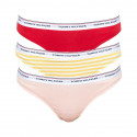 3PACK dámská tanga Tommy Hilfiger vícebarevná (UW0UW01608 0XA)