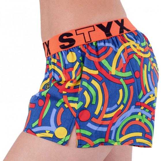 Dámské trenky Styx art sportovní guma vícebarevné (T659)