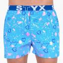 Pánské trenky Styx art sportovní guma Jáchym světle modrá srdíčka (B756)