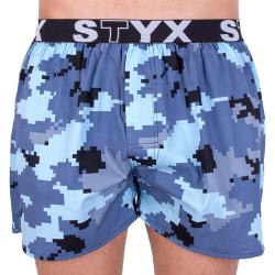 Pánské trenky Styx art sportovní guma maskáč digital (B657)
