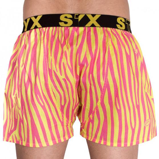 Pánské trenky Styx art sportovní guma zebra (B654)