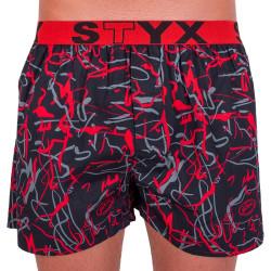 Pánské trenky Styx art sportovní guma Jáchym černé (B550)