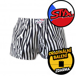 Dámské trenky Styx art klasická guma zebra (K650)