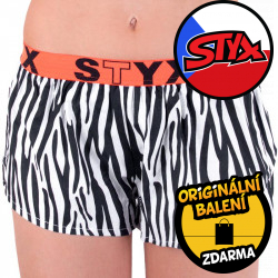 Dámské trenky Styx art sportovní guma černá zebra (T650)