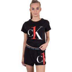 Dámské pyžamo CK ONE černé (QS6443E-QX2)