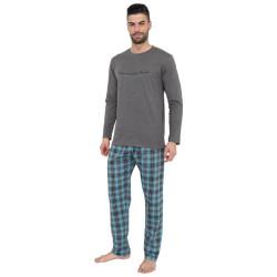 Pánské pyžamo Gino šedo modré (79075)