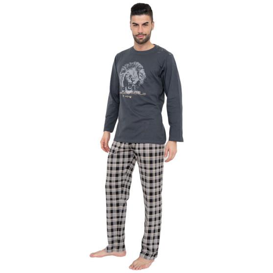 Pánské pyžamo Gino šedé (79063)