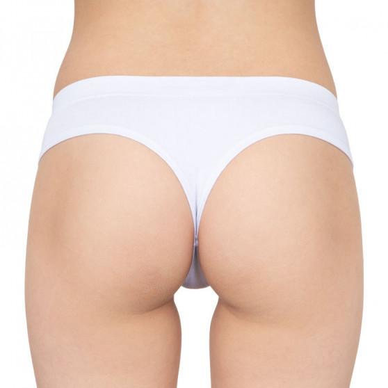 Dámská tanga Gina bambusová bílá (04026)