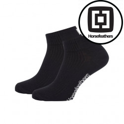 3PACK ponožky Horsefeathers run černé (AA1080A)
