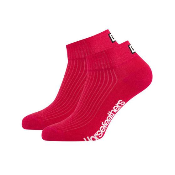 3PACK ponožky Horsefeathers run červené (AA1080C)