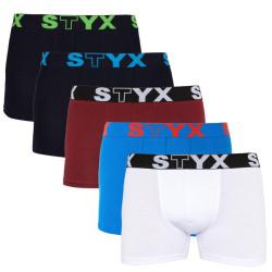 5PACK pánské boxerky Styx sportovní guma vícebarevné (G9616267106061)