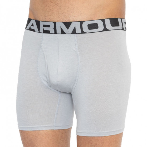 3PACK pánské boxerky Under Armour šedé (1327426 011)