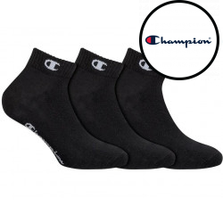 3PACK ponožky Champion černé (Y08QH)