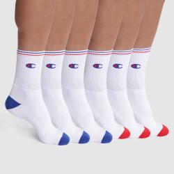 6PACK ponožky Champion bílé (Y081Y)