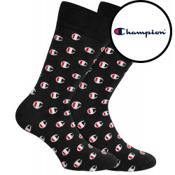 2PACK ponožky Champion černé (Y09LN)