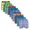 10PACK pánské trenky Styx sportovní guma vícebarevné (B7321234567910)