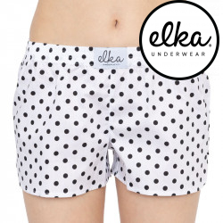 Dámské trenky ELKA bílé s puntíky (D0038)