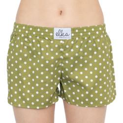 Dámské trenky ELKA khaki drobný puntík (D0039)