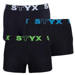 3PACK pánské boxerky Styx sportovní guma nadrozměr vícebarevné (R9606162)