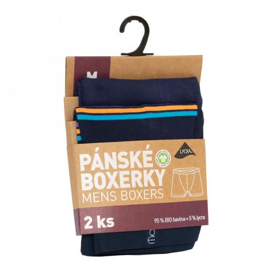 2PACK Pánské boxerky Molvy vícebarevné (KP-066-BEU)