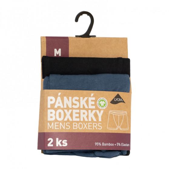 2PACK Pánské boxerky Molvy vícebarevné (KP-069-BEU)