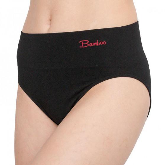 Dámské stahovací kalhotky Gina bambusové černé (00042)