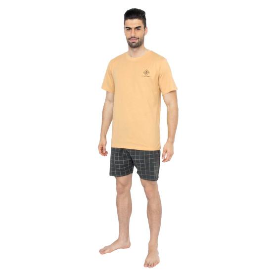 Pánské pyžamo Gino žluté (79080)