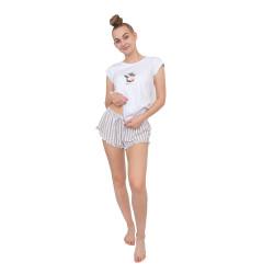 Dámské pyžamo Gina bílé (19076)