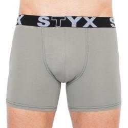Pánské boxerky Styx long sportovní guma světle šedé (U1062)
