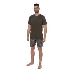 Pánské pyžamo Gino hnědé (79082)