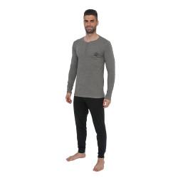 Pánské pyžamo Gino šedé (79073)