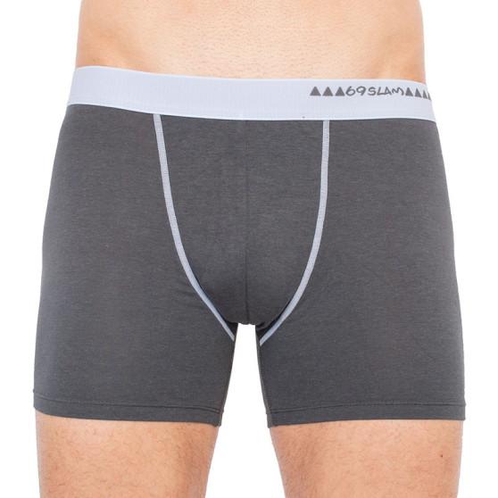 Pánské boxerky 69SLAM fit bamboo dark grey (MBWDG-BB)