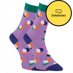 Veselé ponožky Dots Socks kšiltovky (DTS-SX-450-F)