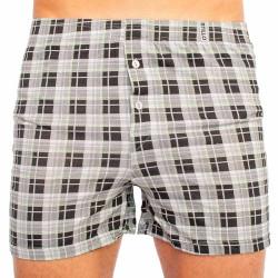 Pánské trenky Stillo černá kostka (STP-006)