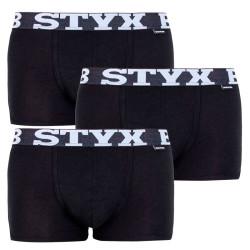 3PACK pánské boxerky Styx bambusové sportovní guma černé  (V9606060)