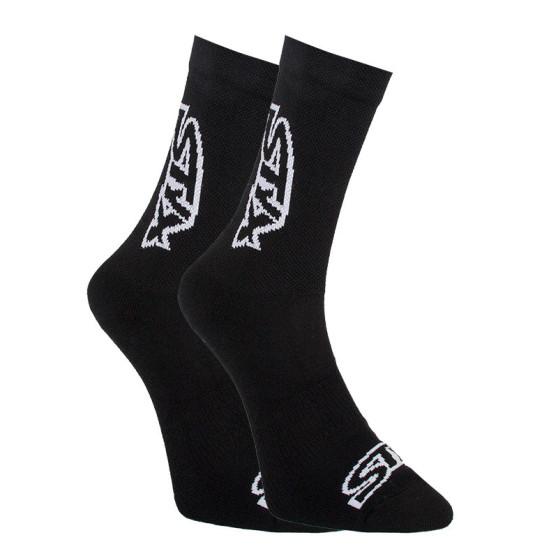 Ponožky Styx vysoké černé s bílým logem (HV960)